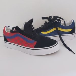 Boy's Vans Old Skool Multi Color Checkers